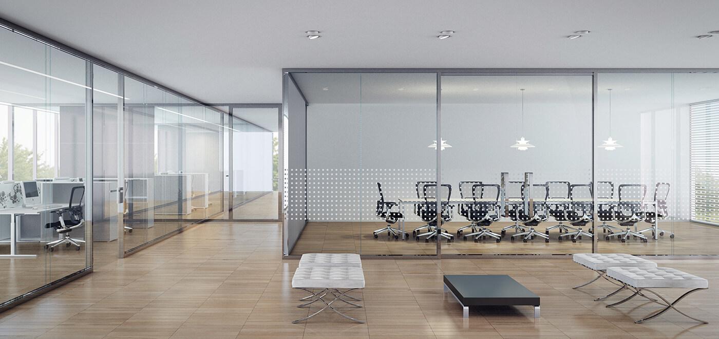 Asset Office Interiors-FRAMELESS DOUBLE GLAZED