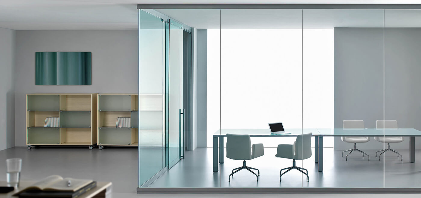 Asset Office Interiors-FRAMELESS SINGLE GLAZED