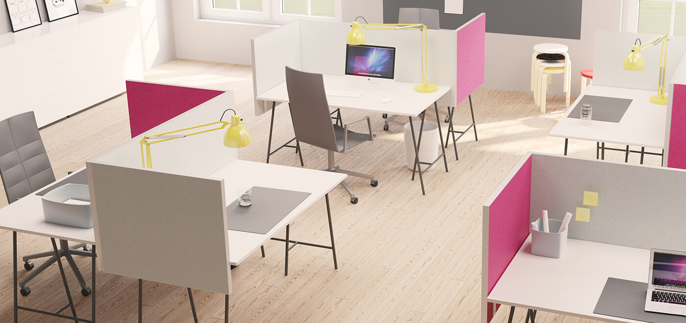 Asset Office Interiors-Alumi Table Screen