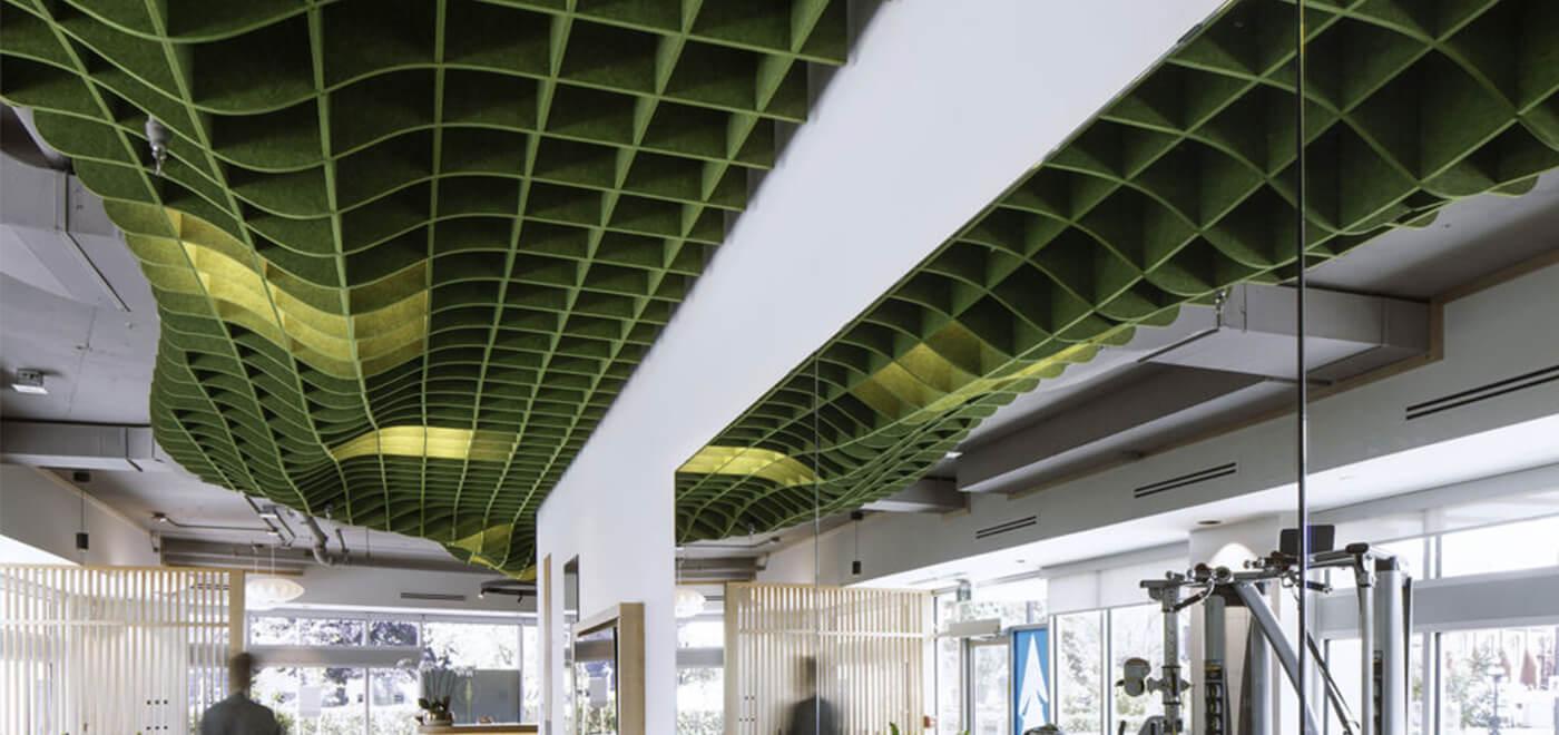 Asset Office Interiors-Acoustical Net / Grid Canopy